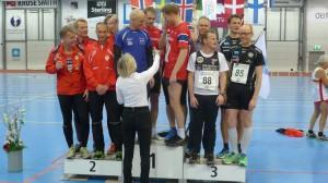Bakerst Rune Høgberg og Petter Jacobsen, foran Leiv Midthassel og Ketil Helgevold